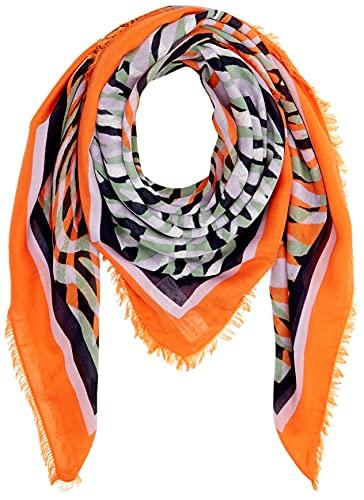 Street One Damen Halstuch Mode-Schal, Blazing orange, A
