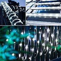 LEDイルミネーションライト 10m 100球 ジュエリーライト リモコン付き 防水防塵仕様 電池式 ストリングスライト 点滅/点灯/タイマー機能 屋外/屋内 正月/クリスマス用ライト ハロウィン装飾 飾り デコレーション ロープライト (ホワイト)