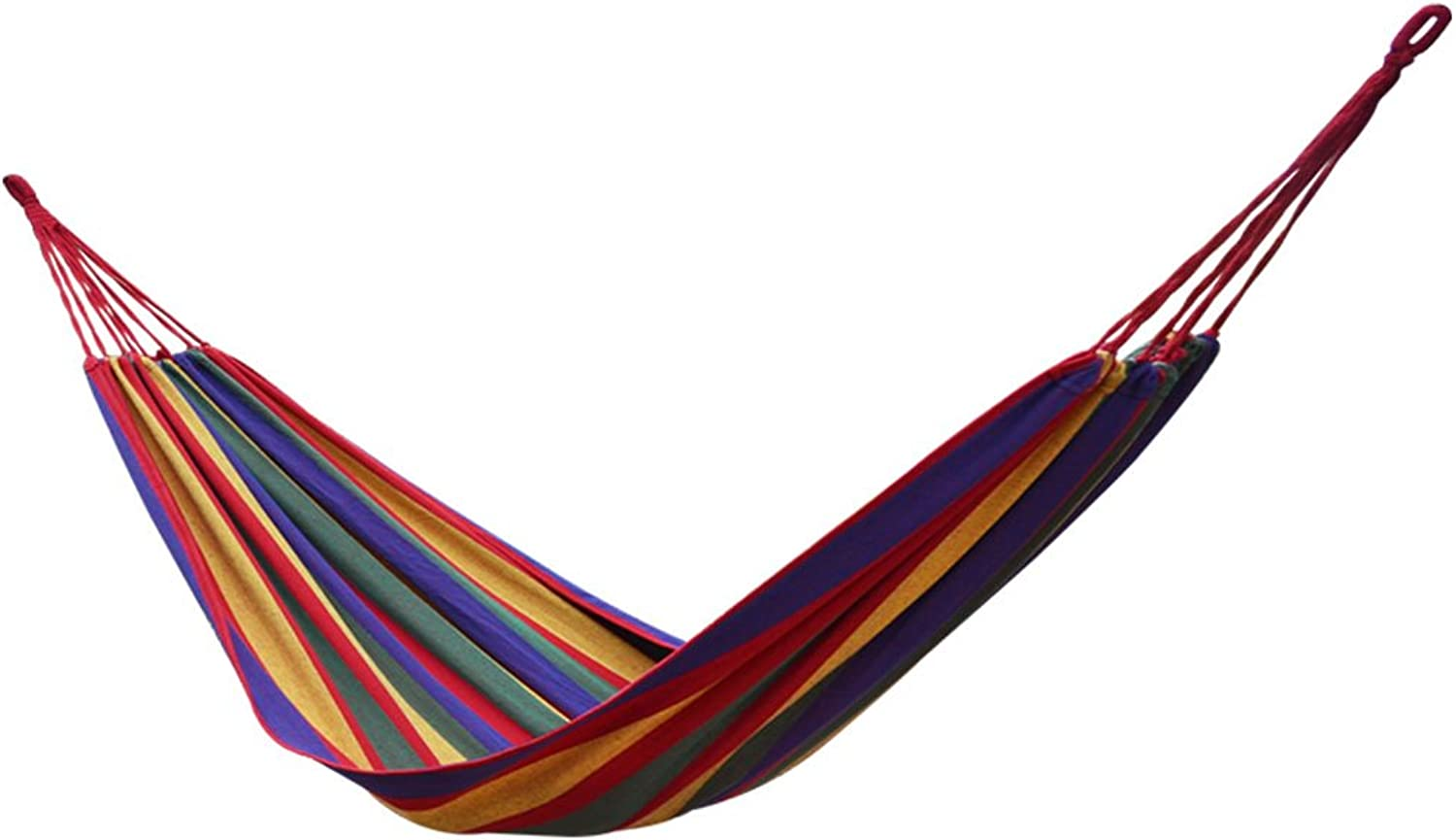 Lzth Indoor and Outdoor Single Double Canvas Thick Outdoor Swing Beach Hammock Suitable for Rest and Relaxation