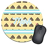 Poop Emoji Round Mouse Pad (Personalized)