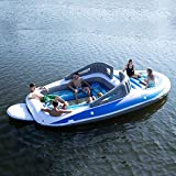 6-Person Inflatable Bay Breeze Boat Island Party...