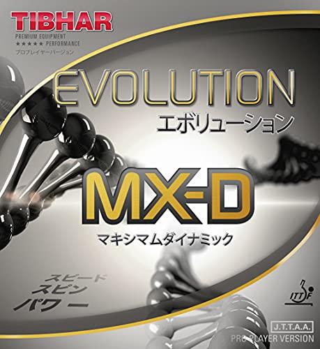 Tibhar Evolution MX-D - Revestimiento de ping pong (dureza: 50,3 ~ 52,3), color rojo