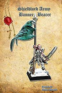 Shieldwolf Miniatures: Northern Alliance Banner Bearer (1 Multi-Part Hard Plastic 28mm Scale Figure) Warhammer, The 9th Age, Age of Sigmar, Kings of War …