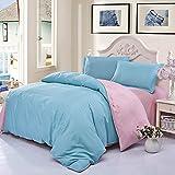 BFMBCH Hotel Student Schlafsaal Bettwäsche Haut Baumwolle Bettlaken einzigen Kissenbezug vierteilige N3 220cmx240cm