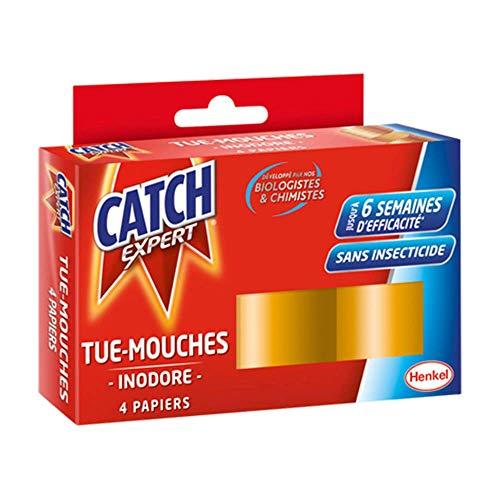 CATCH - Papier tue-mouche - 4 Rouleaux