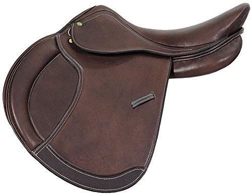 Henri de Rivel Pro Concept Close Contact English Saddle | Horse Riding Equestrian Saddle - Havana - 17.5 Wide