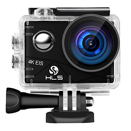 Action Camera 4K,Underwater WiFi EIS Waterproof Anti-Shaking Action Sport Camera with 20MP 170° Wide-Angle Professional Lens,2 Rechargeable Batteries,Remote Control for Vlog,Sports (4k-2)