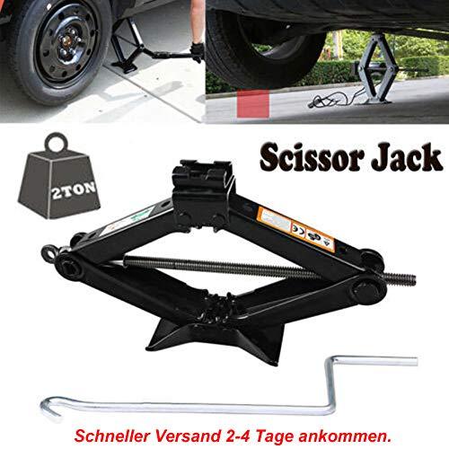 Feidak 2 Tonnen Scherenwagenheber mit Kurbel Höhe von 90mm bis 385mm für Opel Corsa/Astra/Zafira/Insignia/Meriva