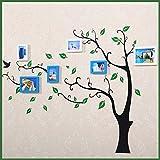 DONG Foto wand Fotorahmen Collage Foto Wand Fotorahmen Collage Foto Display Wand Hintergrund Wand Wohnzimmer Fotowand Kinderzimmer Wand Wand Massivholz ( Farbe : White+blue )