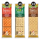 Keebler, Sandwich Crackers, Variety Pack, Made with No High Fructose Corn Syrup, 3.881lb Case (45 Count)