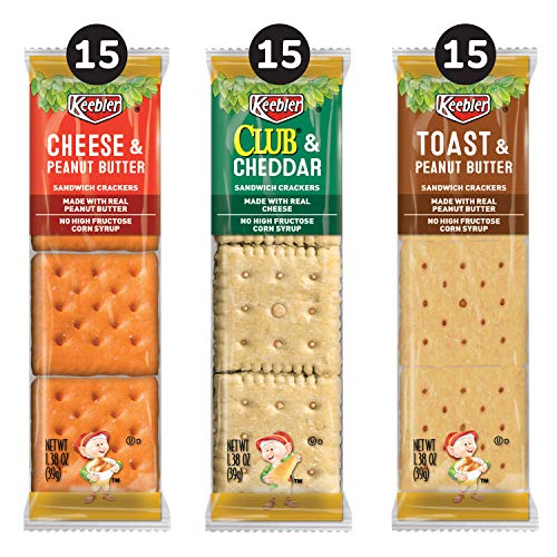 Keebler Sandwich Crackers Variety Pack 45 Count Now $8.15