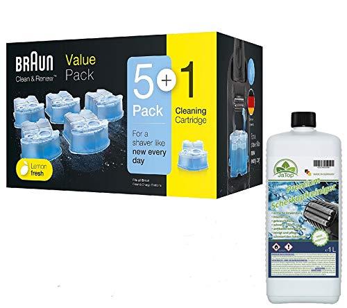 Original Braun Clean + Renew CCR Kartuschen + 1l JaTop Nachfüllung