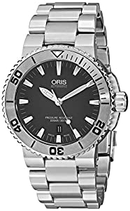 Oris Men's 73376534153MB Divers Analog Display Swiss Automatic Silver Watch image