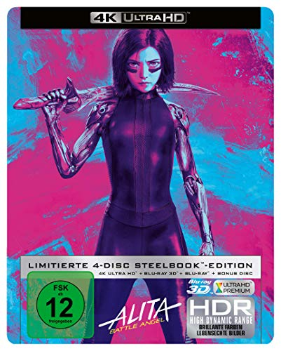 Alita: Battle Angel Steelbook 4K [2Blu-Ray]+[Blu-Ray 3D] [Region Free] (English audio. English subtitles)