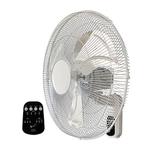 Ventiladores de Pared, Ventiladores Eléctricos Oscilantes De Refrigeración con Control Remoto, Temporizador de 7,5 Horas, Oscilación de 90 °, Inclinación Ajustable, para Dormitorio, Oficina, Gimnasi