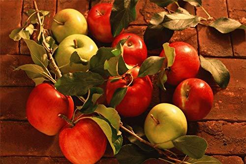 Kit De Dibujo De Diamante 5D Manzanas Rojas Y Manzanas Verdes Decoración De Muebles Regalos De Navidad Sin Marco 30 * 40Cm