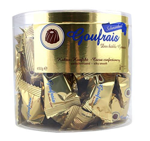 Goufrais Schokolade Konfekt feinste Gugelhupf Pralinen Schoko Geschenkset Trüffel Kakao-Konfekt Praline Schmankerl Box 450 g