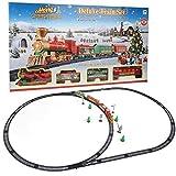 Dilwe Juguete Educativo del Tren, Estilo de Navidad Juguete de Via de Tren Electrico Puzzle Model DIY Kid Toy