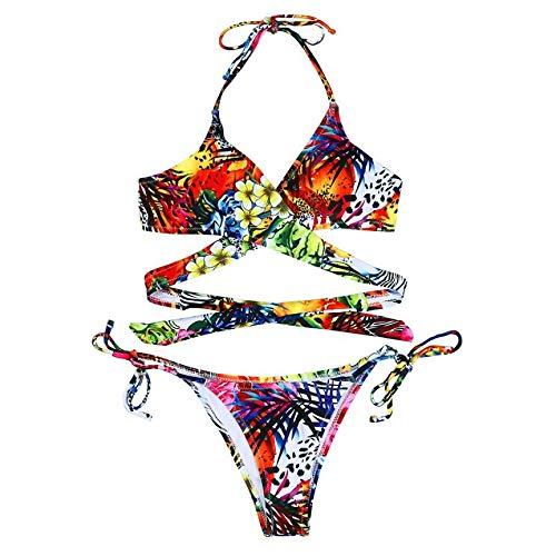 GUOZI Bikini Vrouwen Badpakken Zomer Lage Taille Bandage micro bikini Strandkleding Print Bloemen Beach bather Bikini