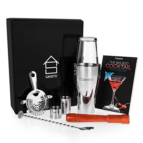 51DaJ8skl+L Premium 8 Piece Cocktail Set With Boston Cocktail Shaker