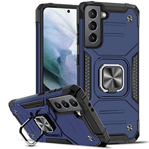 LeYi Funda Samsung Galaxy S21 5G Armor Carcasa, Soporte Hard PC y Silicona TPU Bumper antigolpes Case para Samsung Galaxy S21 5G, Azul
