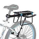 Bicicleta Portabultos, Baiker Bicicleta Portaequipajes Ajustable Aluminio bicicleta Accesorios Portaequipajes para Bicicleta con Reflector