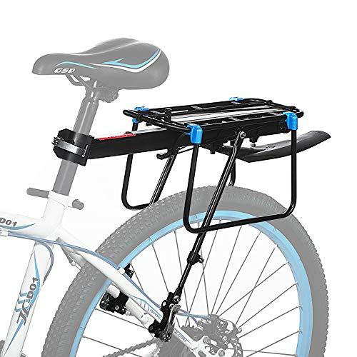 Baiker Universale Portapacchi Bici Alluminio Rack Posteriore Portapacchi Carrier Rack per Biciclette Mountain Bike MTB con Riflettore