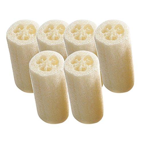 display08 - 6 esponjas de baño de luffa Natural para Limpieza de la Cocina