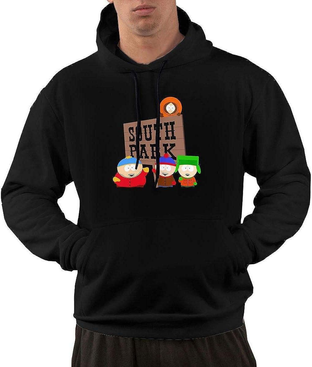AlbertV Men's South Park Hoodies Black Finally popular brand Pocket with Sweater Popular