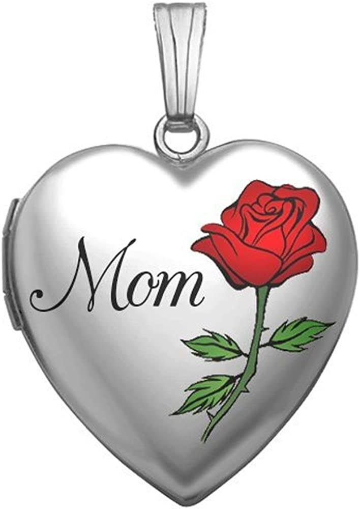 PicturesOnGold.com Popular standard Sterling Silver Mothers Heart High quality new Mom Day Locket