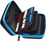 BRENDO Hard Carrying Case for New Nintendo 2DS XL + Large Stylus, Fits Wall Charger, 24 Game Cartridge Case...