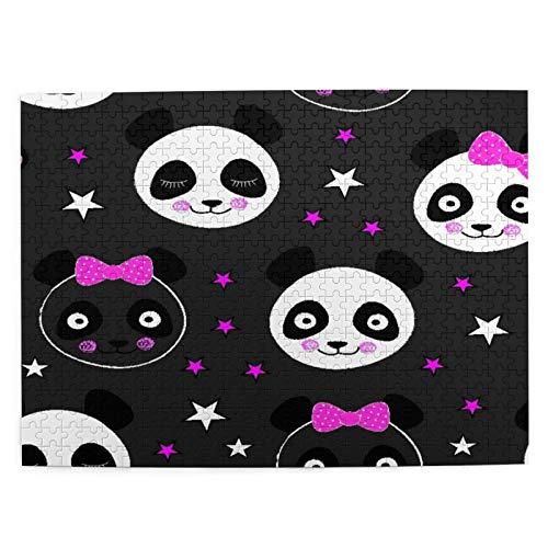 CVSANALA Jigsaw Picture Puzzles 500 Stück,Panda Bär,Bildungs Familienspiel Wandkunstwerk Geschenk für Erwachsene,Teenager,Kinder,20.4 x 15Zoll