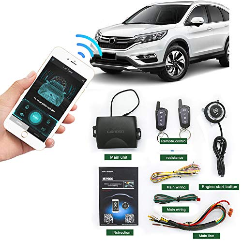 Remote Start for cars PKE Keyless Entry One Button Engine Automatic Start Stop kit for Car Remote Key or Phone Control Remote Car Starters