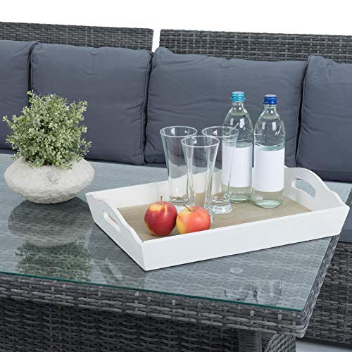 ESTEXO Polyrattan Lounge Set in luxuriöser Optik bestehend aus 1 Couch, 3 Hockern und 1 Tisch, inklusive Sitzpolster, grau - 5