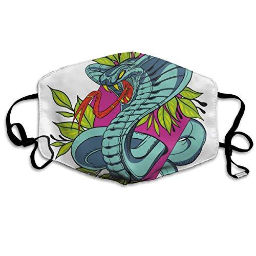 Houity Sturmhaube, staubdicht und winddicht, Schlangenhaut-Tattoo, weich, atmungsaktiv, waschbar, verstellbar, geeignet für Männer und Frauen