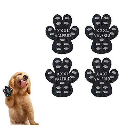 VALFRID Dog Paw Protector Anti-Slip Grips to Keeps Dogs from Slipping On Hardwood Floors,Disposable Self Adhesive Resistant Dog Shoes Booties Socks Replacemen XXXL 24 Pieces