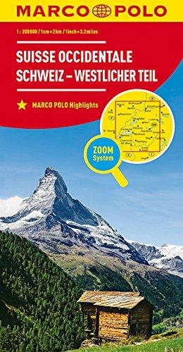 MARCO POLO Regionalkarte Schweiz Blatt 1 Schweiz - westlicher Teil 1:200 000: Wegenkaart 1:200 000 (MARCO POLO Karten 1:200.000)