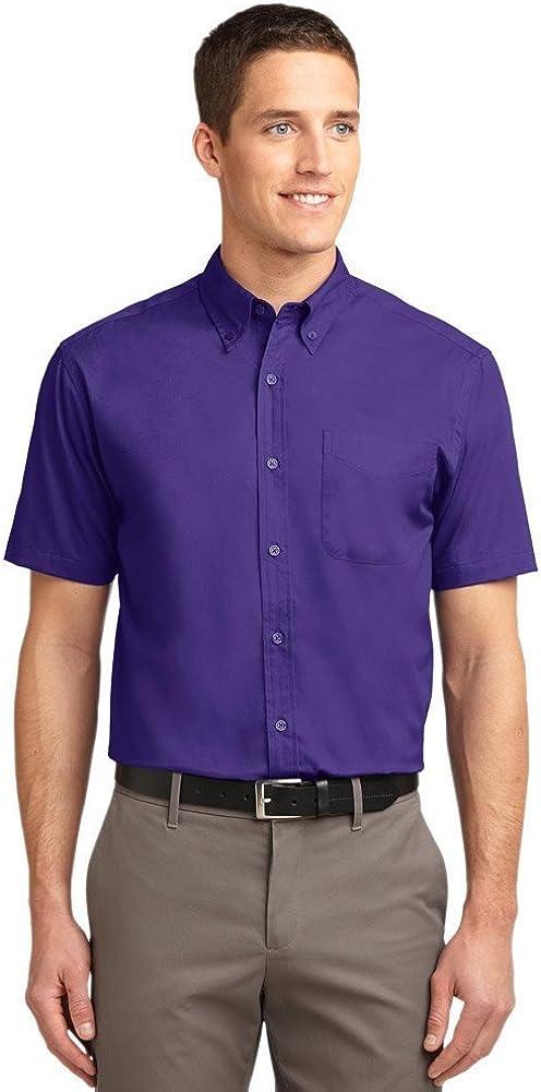 Port Authority Men's Tall Short Sleeve Easy Care Shirt XLT Purple/Light Stone