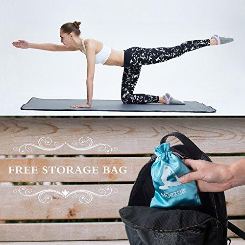 Muezna Non Slip Yoga Socks for Women, Anti-Skid Pilates, Barre, Bikram Fitness Socks with Grips, Size 5-10