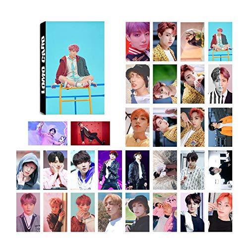Youyouchard Kpop 30pcs BTS Love Yourself 結 [Answer] Lomo Card Version 'S'/ 'E'/ 'L'/ 'F' BTS Bangtan Boys Photocard J-Hope Jimin and a Small Gift (H02: JUNG KOOK)