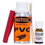 Kit para reparación de neumáticas de PVC Nauticol (Azul)