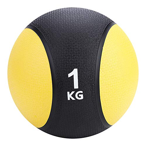 WYYY Gewichtete Fitnessmedizin Gummi Ball Für Turnhalle Muskelausbildung Übung 1kg