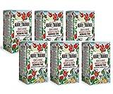 Heath & Heather - Infusión de manzana orgánica, hibisco, guaraná y ginseng, 6 x 20 bolsitas de té (240 gramos)