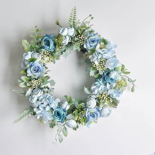 JONJUMP Guirnalda artificial de flores de seda para decoración de la puerta del hogar, decoración de pared, decoración de fondo de boda