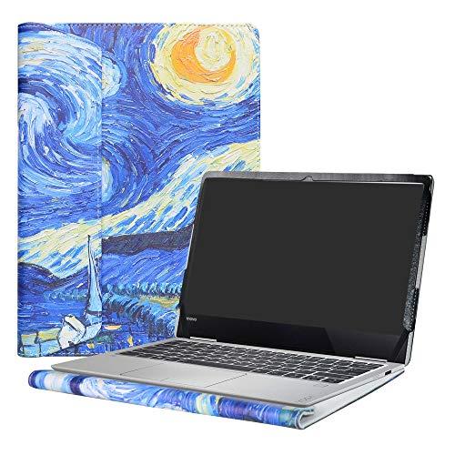 Alapmk Diseñado Especialmente La Funda Protectora de Cuero de PU para 13.3' Lenovo Yoga 730 13 730-13IKB Ordenador portátil,Starry Night