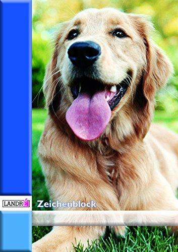 LANDRE 400045264 Zeichenblock 5er Pack A2 10 Blatt 100 g/m² holzfreier Zeichen-Karton geheftet mit Mikroperforation 2 Tier-Motive Zeichenpapier