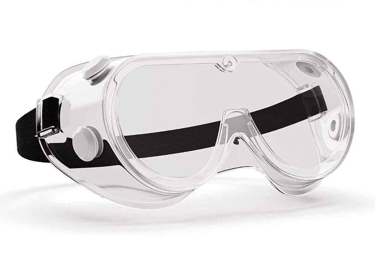 Manissa Gafas de Seguridad, Selladas, Antiniebla (Paquete de 10 Piezas)