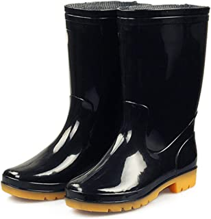 Men's Rainy Wellies Rain Boots - Easy Clean Walking Shoes, Waterproof Rain Shoes, Cushioned Footbed Wellington Boots