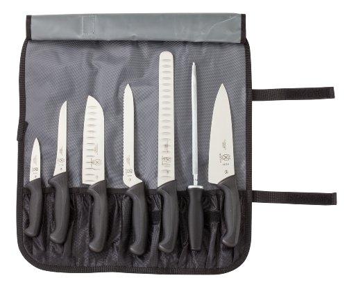 Mercer Culinary M21820 Millennia 8-Piece Knife Roll Set, Black