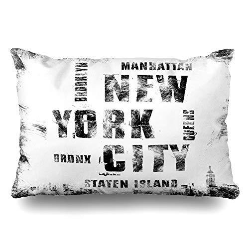 GFGKKGJFF0807 Funda de cojín con insignia atlética de la ciudad de Nueva York de Nueva York, 40 x 60 cm, para decoración del hogar, sofá, regalo de Navidad, cumpleaños